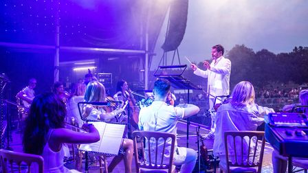 The Urban Soul Orchestra at Classic Ibiza 2019 at Hatfield House. Picture: Jake Lewis