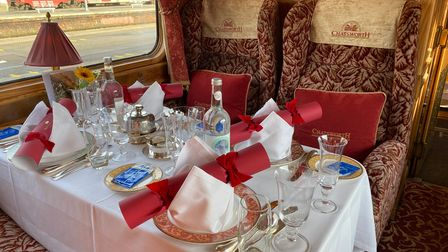 Guests are treated to a seven-course lunch on the Northern Belle Picture: Ella Wilkinson