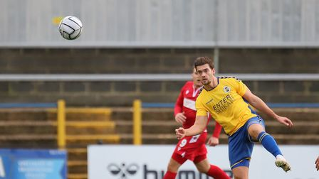 Michael Clark in action for St Albans City against Hungerford Town. Picture: PETER SHORT
