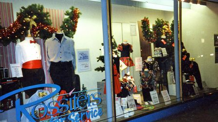 The Christmas window display in 1993