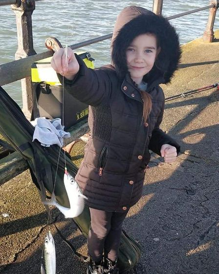 Isobel Joiner with a mackerel