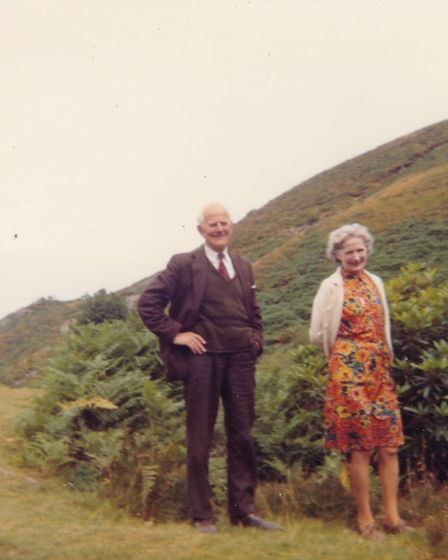 Evie Kay in her later years, pictured with her nephew and Frances' dad Brian Kay.