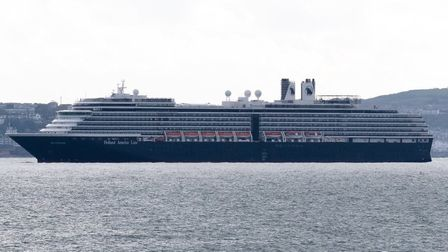 The Holland America Line cruise ship Nieuw Statendam in Torbay
