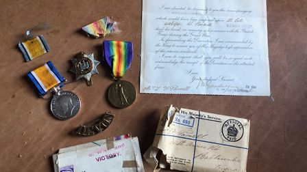 Private Parnell's war medals