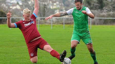 Action from Saturday''s Devon Football League game between Waldon Athletic and Bere Alston which Ber