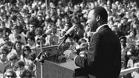 Martin Luther King, Jr speaking at the University of Minnesota in 1967. Photo: Minnesota Historical