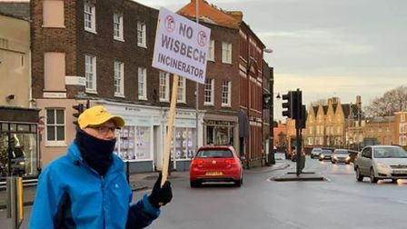 """WisWIN campaigners fighting the incinerator plans said they had """"a really positive morning"""" giving out their new leaflets."""