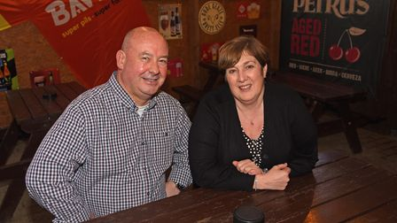 Terry Hughes and Linda Smith, owners of the Belgian Monk on Pottergate in Norwich. Picture: Danielle