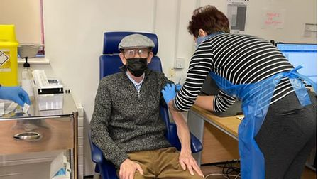 Octogenarian James Canning received the Covid vaccine at The Wembley Practice.
