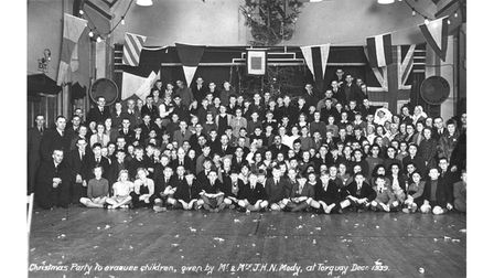 A Christmas party for evacuees in 1939