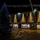Christmas lights on Market Square. Picture: Tony Velterop