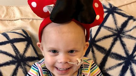 Lily Vine, aged three, undergoing cancer treatment with the support for her family from CLIC Sargent