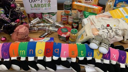 Ottery Community Larder receive £200 worth of groceries from Sainsbury's