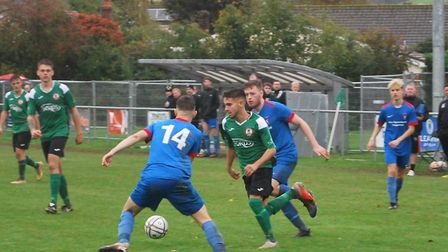 Action from the Sidmouth Town 6-0 South West Peninsula League Premier East win over Stoke Gabriel. P