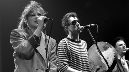 The Pogues - Kirsty McCall And Shane MacGowan in the 1980s.