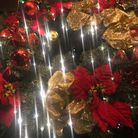 Red and gold festive wreath