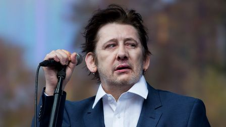 Shane MacGowan of The Pogues performs on stage at British Summer Time Festival.