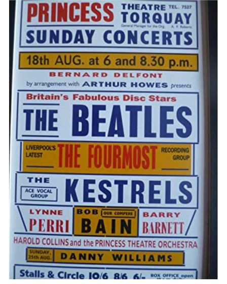 A poster advertising the the Fab Four's concert in Torquay