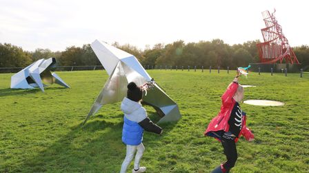 Outdoor Family Sunday event at theSainsbury Centre Sculpture Park.