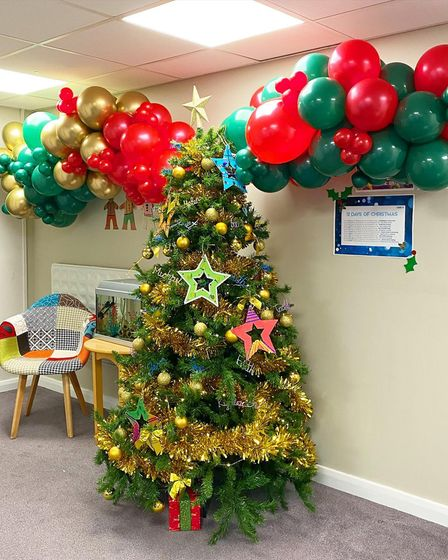 Christmas tree in Muriel Street care home