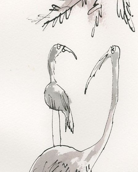 Stalk and Baby by Sir Quentin Blake - up for grabs at Zoe's Place charity auction