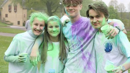 Ampleforth students take part in many fund-raising events for charities, including the annual Colour