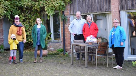 (L-R) Robin Rea, Harriet Seed, Ruud Jansen Venneboer, Jacqueline Parke and Toni Hiscocks at Mazzard Farm Cottages