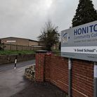 The entrance to Honiton Community College