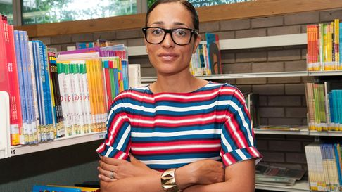 Zadie Smith reads from her new book NW at Swiss Cottage Library
