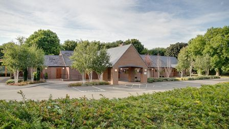 Torbay Crematorium surrounded by trees