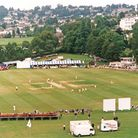 The Recreation Ground all set up to stage the festival