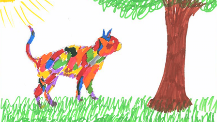 Matilda's cat picture for the Whittington Hospital.