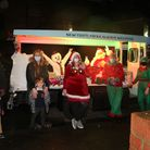 Santa Comes to Wanstead, Gordon Road, Spratt Hall Road & Wanstead Place, despite Covid-19 and heavy