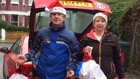 Christmas helpers for Muswell Hill Foodbank