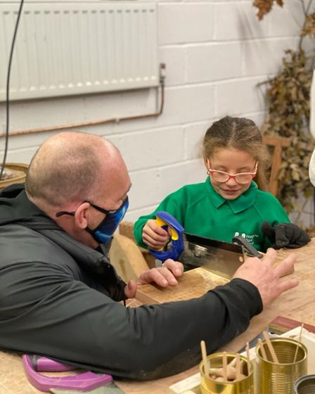 Wood That Works delivering a class for youngsters