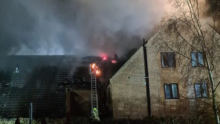 A fire took place at Ashley Court off Wellfield Road in Hatfield