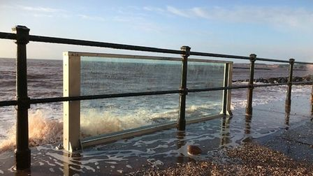 The test glass panel in Sidmouth stood up to Storm Ciara. Picture: East Devon District Council