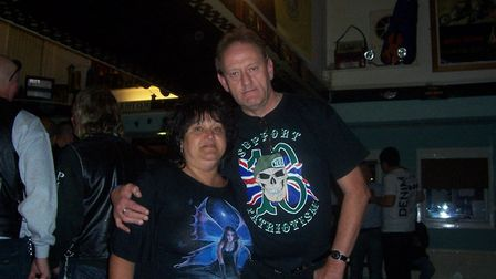 Jackie and Ray Williams at a gig in Ilfracombe.