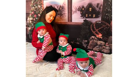 It will be Summer and her triplets' first Christmas this year