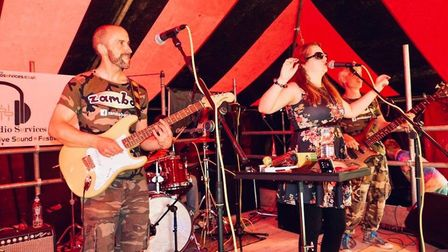 The band Zamba, pictured here at Littlebridgestock, a festival organised by Ray for Children's Hospice South West.