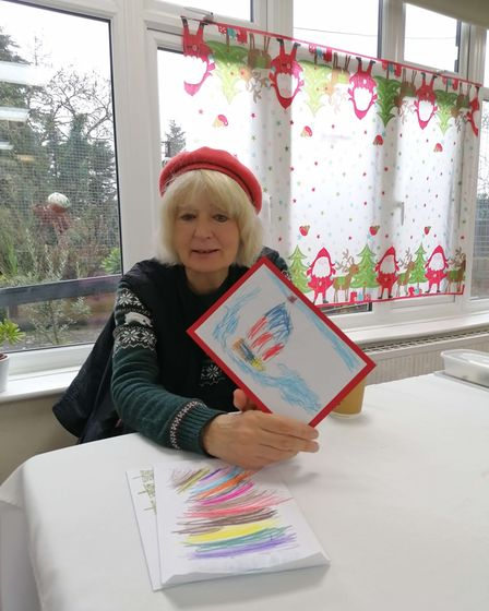 Residents were given gift bags and Christmas cards