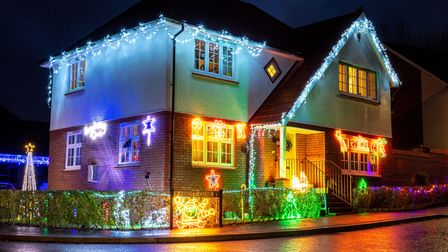 Christmas lights in aid of Alzheimer's Society