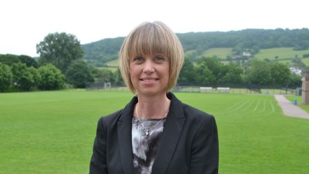 Sidmouth College Principal Sarah Parsons looking straight at the camera
