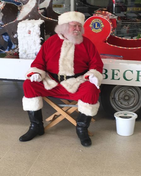 Father Christmas has been enjoying Zoom calls this year but hopes to be in and around Wisbech on his sleigh next year.