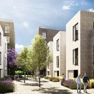 An artist's impression of plans for development at Northwick Park.