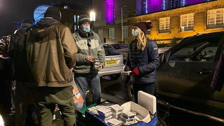 Anon Street Team provided hot food and festive gifts to homeless and vulnerable people at a Christmas party in Norwich.