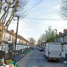 A Google 'Street View' image of Altmore Avenue, East Ham, looking north from the Barking Road end.