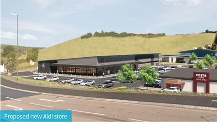 Image of proposed new Aldi store at Torquay