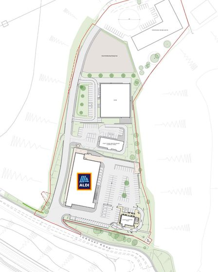 Plan for the site of a new Aldi store at Torquay