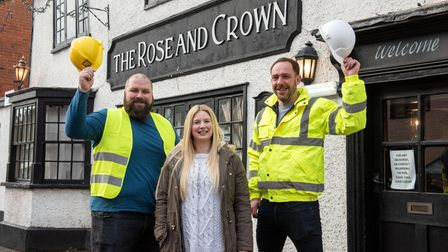 The Rose and Crown, Welwyn is undergoing a refurbishment